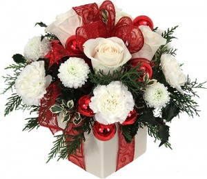 christmas flower arrangements