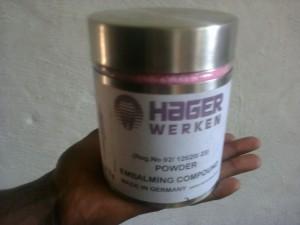Hager Werken Embalming Compound Pink Powder