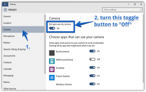 How to Disable Webcam in Windows 10