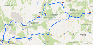 Google Maps trips
