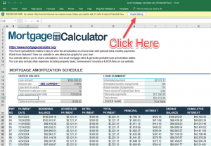 Mortgage Payments in Excel