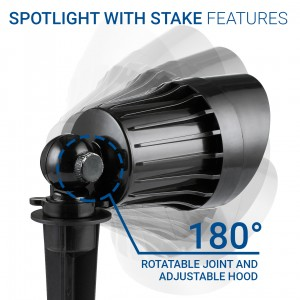Rotatable_Spotlight With Stake