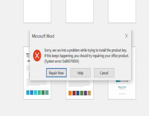 Methods to troubleshoot MS Office Activation Error 0x80070005