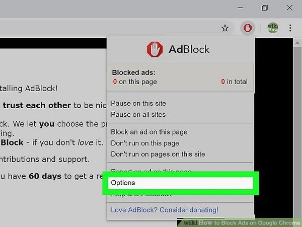 Disable Ads on Google Chrome