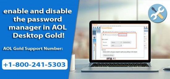 How to enable and disable the password manager in AOL Desktop Gold
