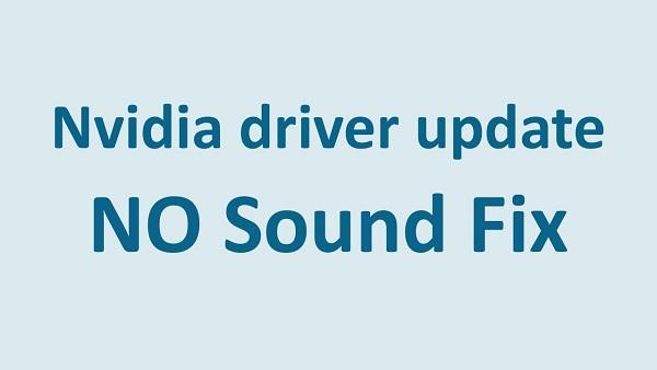 NVIDIA No Sound Problem