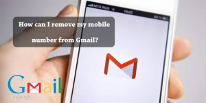 How can I remove my mobile number from Gmail