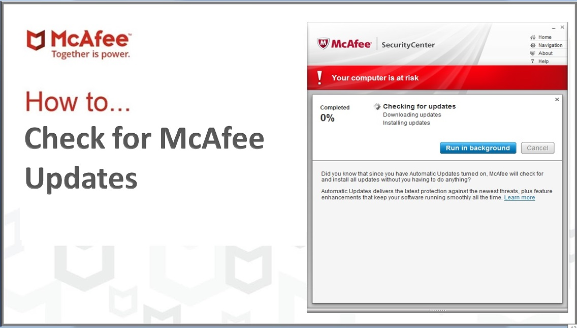 How to Check for McAfee Updates
