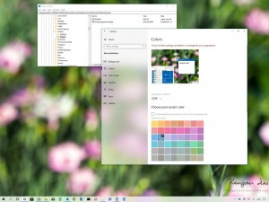 How to Prevent Changing Color in Windows 10