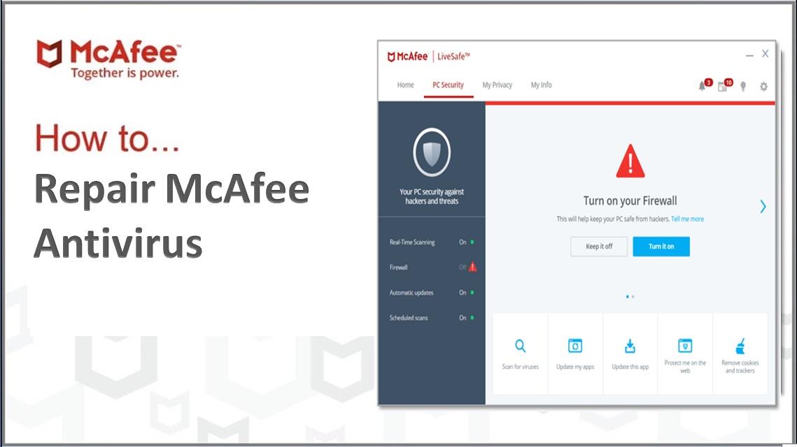 How to Repair McAfee Antivirus