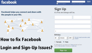 fix Facebook Login and Sign-Up Issues