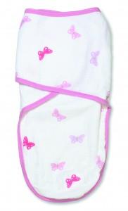 easy swaddle girls 'n swirls - butterfly product