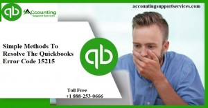 Simple Methods To Resolve The Quickbooks Error Code 15215