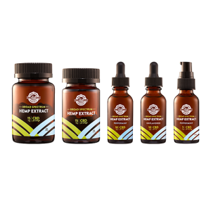 CBD Oil, CBD Softgels, CBD Spray - collection shot