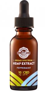CBD Oil - peppermint flavor product shot