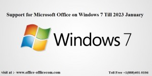 Microsoft Office will be supported on Windows 7 till January 2023