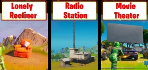 Fortnite Location of Radio Station, Movie Theater & Lonely Recliner