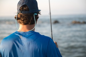 man wearing blue performance fishing shirt by GILLZ