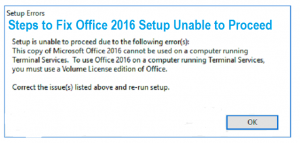Image is about office 2016 setup