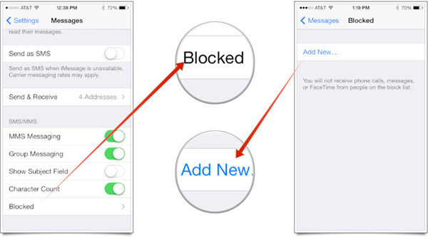 Blocking Messages on Yahoo Mobile Device