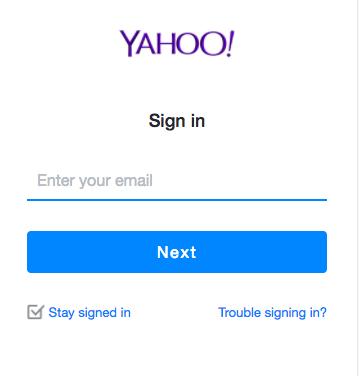 Sign into Yahoo Account