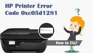 HP Printer Error 0xc05d1281