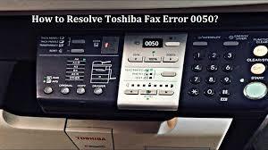 Toshiba -Fax-Error-0050
