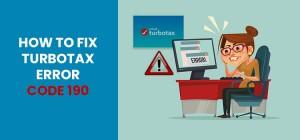 Fix TurboTax Error Code 190