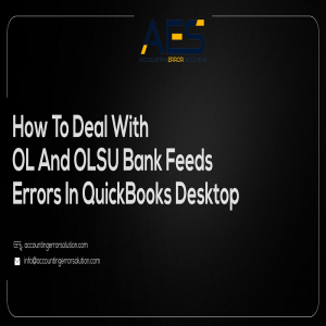 Deal with OL and OLSU Bank Feeds Errors in QuickBooks Desktop