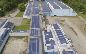 Industrial solar panel installation - Visol india