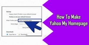 Make Yahoo Your Homepage