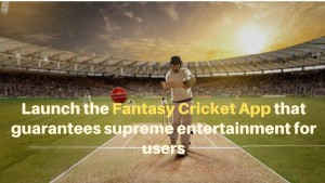 Launch the fantasy cricket app that guarantees supreme entertainment for users