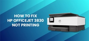 hp officejet 3830 not printing