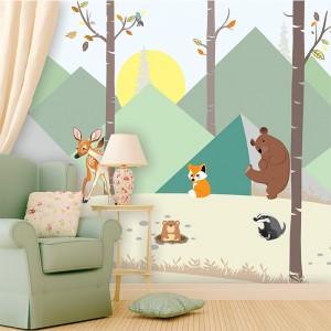 Cute-Scandinavian-Animal-Wallpaper-for-walls