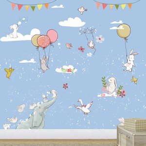Elephant_With_Rabbit_kids-Wallpaper-for-Walls