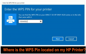Connect your HP Printer via WPS Pin