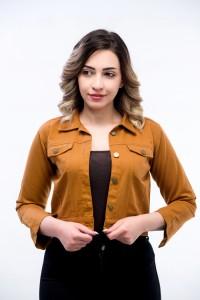 Denim Jacket for Girls - Mustard