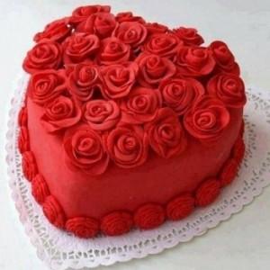 Heart-Shaped Red Velvet Cake