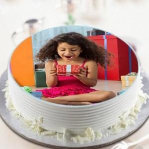 Personalised Photo Vanilla Cake
