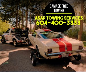 surrey towing company towing a car to the destination