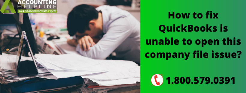 QuickBooks is unable to open this company